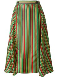 Marco De Vincenzo Striped Midi Skirt Multicolour