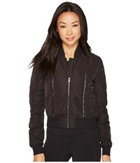 Alo Yoga Off Duty Bomber Jacket Black Black Coat