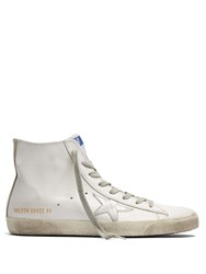 Golden Goose Francy High Top Leather Trainers White Multi