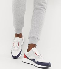 Pull And Bear Pullandbear Chunky Trainers With Colour Block In White