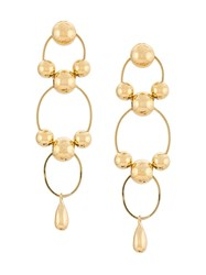 Annie Costello Brown Hoops Drop Earring 60