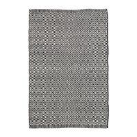 Dash And Albert Crystal Indoor Outdoor Rug Black Ivory