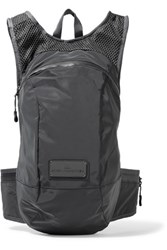 Adidas By Stella Mccartney Shell And Mesh Backpack Dark Gray