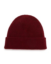 Rag And Bone Kaden Cashmere Beanie Burgundy
