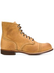 Red Wing Shoes Classic Lace Up Boots Brown