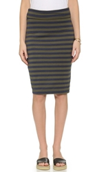Splendid Foldover Pencil Skirt Olivine