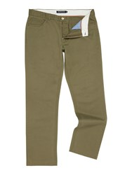 Howick Men's Smith 5 Pocket Twill Trouser Khaki