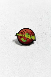 Urban Outfitters Space Jam Logo Pin Orange