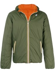 K Way Padded Loose Jacket Green