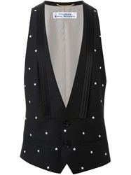 Education From Youngmachines Embroidered Star Waistcoat Black