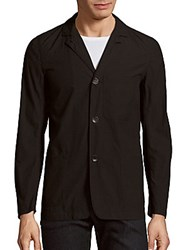 Rag And Bone Textured Cotton Blend Cardigan Black