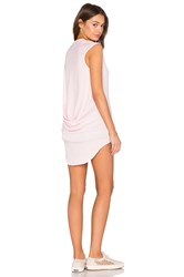 Bobi Light Weight Jersey Hi Low Scoop Neck Tank Pink