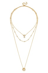 Baublebar 'Ice Tag' Layered Pendant Necklace Clear Gold