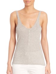 Atm Anthony Thomas Melillo Sparkle Wrestler Henley Tank Heather Grey Gold