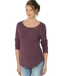 A Pea In The Pod Maternity Scoop Neck Sweater Italian Plum