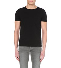 Tom Ford Crewneck Cotton Jersey T Shirt Black