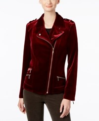 Inc International Concepts Velvet Moto Jacket Only At Macy's Port