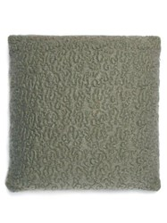 L'objet X Haas Brothers Vermiculation Moahir Blend Cushion Green