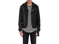 R 13 R13 Men's Layered Moto Jacket Black