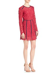 Peserico Lace Contrast Trim Dress Pink