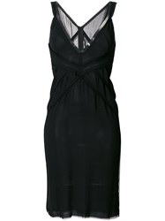 Dsquared2 Plunge Dress Women Silk Spandex Elastane Viscose 38 Black