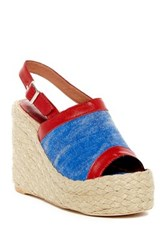 Jeffrey Campbell Burbank Slingback Wedge Sandal Red