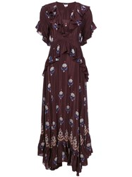 Warm Long Embroidered Dress