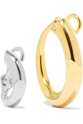 Charlotte Chesnais Monie Gold Dipped And Silver Clip Earrings One Size