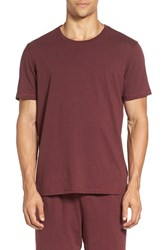 Daniel Buchler Men's Cotton Blend T Shirt Wine