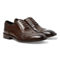 Paul Smith Munro Leather Wingtip Brogues Brown