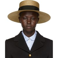 Gucci Gold Straw Hat