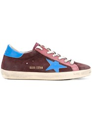 Golden Goose Deluxe Brand Star Patch Trainers Burgundy