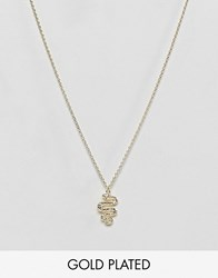 Orelia Snake Ditsy Necklace Gold
