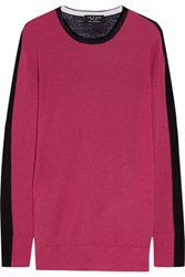 Rag And Bone Verity Two Tone Cashmere Sweater Plum