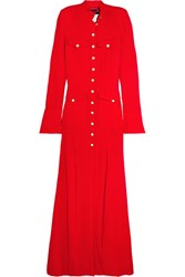 Ronald Van Der Kemp Crepe Gown Red