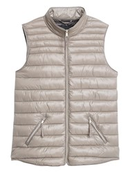 Mango Water Repellent Quilted Gilet Pastel Grey
