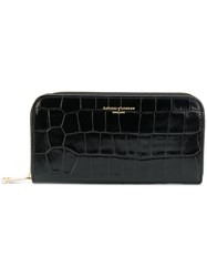 Aspinal Of London Textured Zip Wallet Women Calf Leather One Size Black