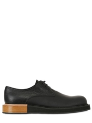 Mobi Leather Derby Lace Up Shoes Black