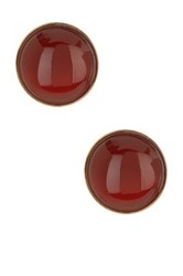 Yochi Design Cornelia Button Earrings Orange