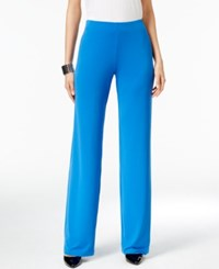 Alfani Knit Wide Leg Trousers Only At Macy's Laser Blue