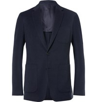 Burberry Slim Fit Cashmere Blazer Blue