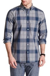 Bonobos Long Sleeve Plaid Slim Fit Woven Shirt Blue
