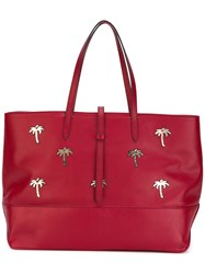 Tomas Maier Granda Palms Tote Bag Women Leather One Size Red