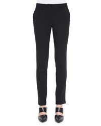 Etro Stretch Wool Skinny Fit Pants Black