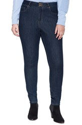 Plus Size Women's Eloquii Stretch Skinny Jeans Dark