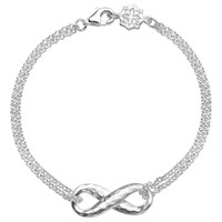 Dower And Hall Sterling Silver Entwined Infinity Bracelet Silver