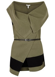 Joie Ligiere Olive And Black Wool Gilet