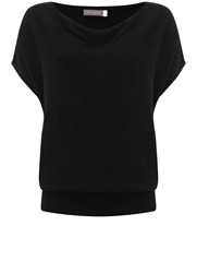 Mint Velvet Black Short Sleeve Batwing Knit Black