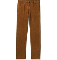Massimo Alba Navy Cotton Corduroy Trousers Brown