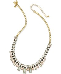 Kate Spade New York Gold Tone Multi Crystal Collar Necklace